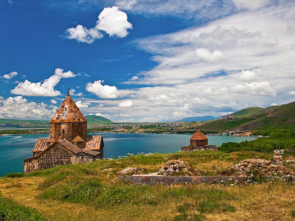 Sevan - the lake in Armenia